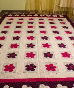 Фото коврика напольного с цветами