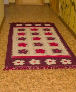 Фото напольного коврика фиолетовый