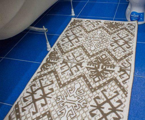 Фото коврик в ванну и туалет узоры пестрый