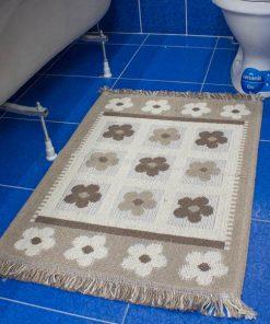 Фото коврик в ванну и туалет цветы