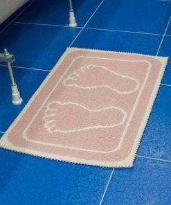 Фото коврик в ванну и туалет отпечаток розовый
