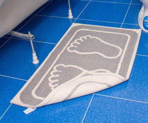 Фото коврик в ванну и туалет с отпечатком 50*80 серый